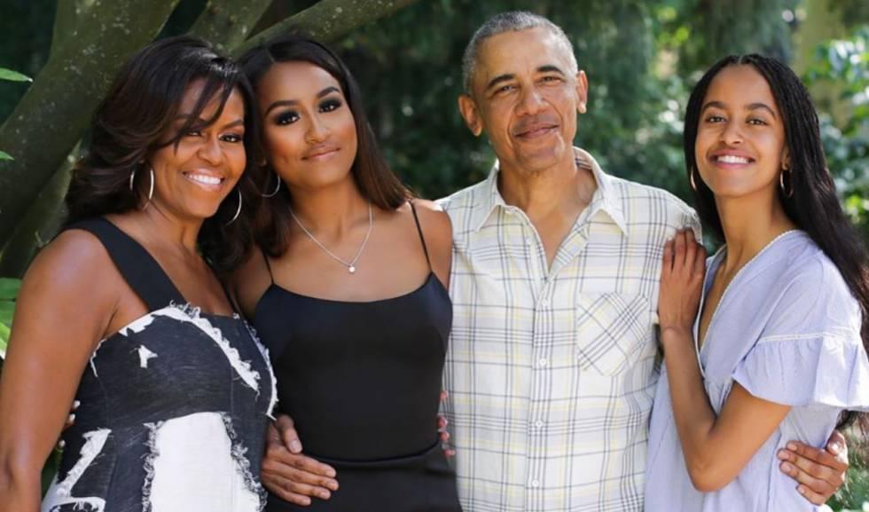 Michelle con su familia