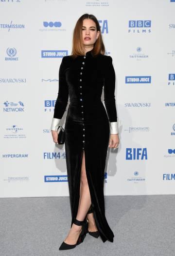 Lily James en los British Independent Film Awards 2019, el pasado domingo, en Londres.