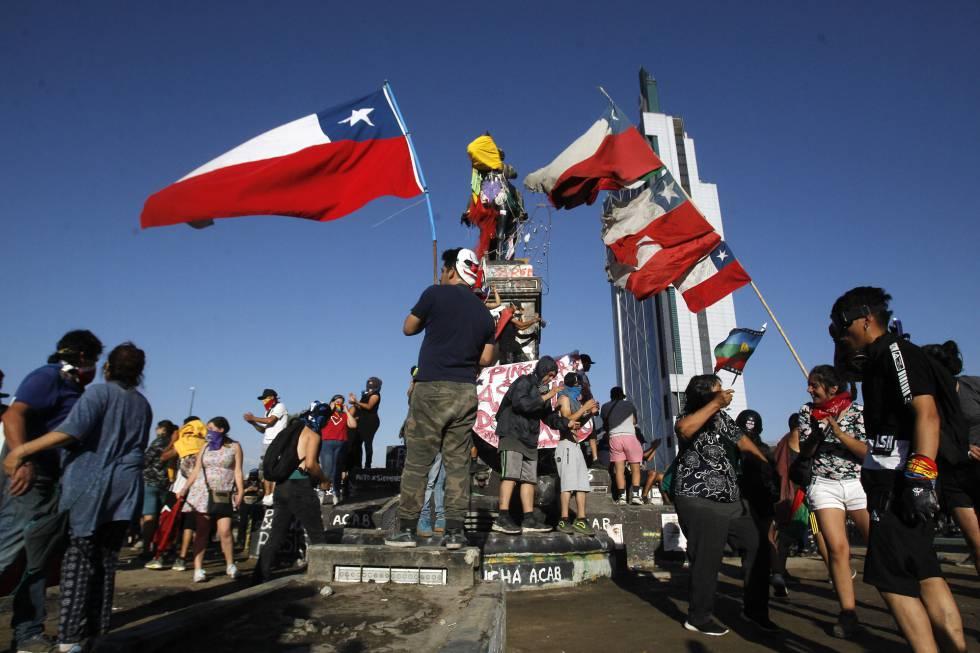 La protesta social sigue en aumento y los chilenos continúan manifestando su descontento en las calles