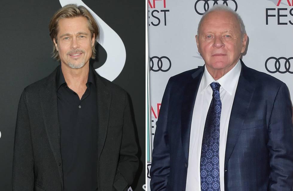 Los actores Brad Pitt y Anthony Hopkins.