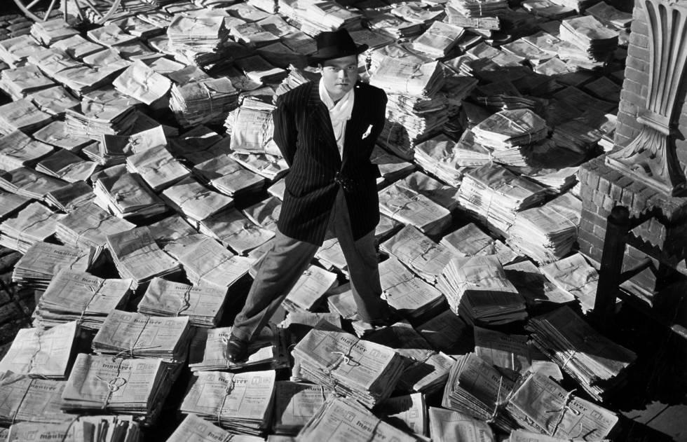 Orson Welles interpretando a Charles Foster Kane en la película 'Ciudadano Kane'.