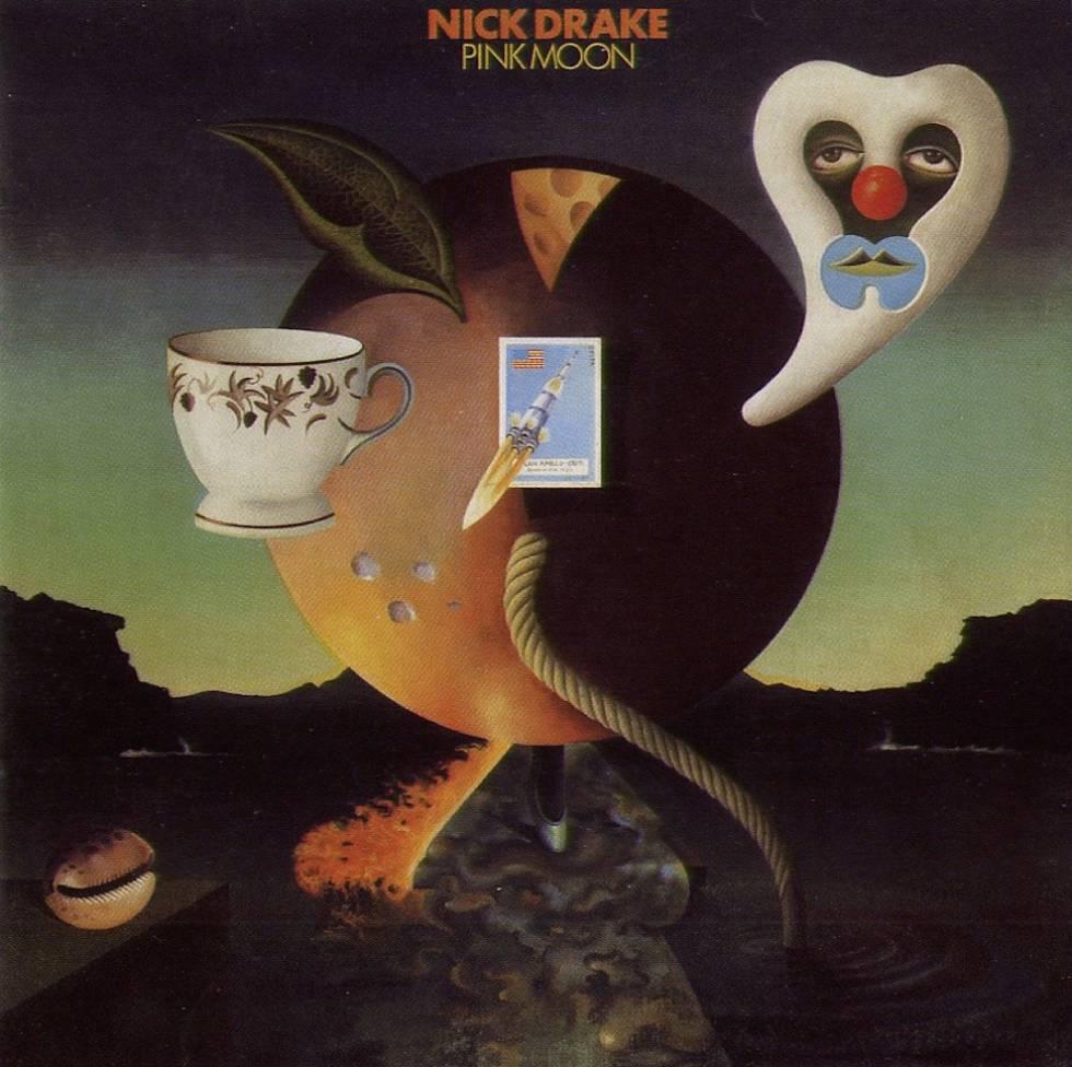 Portada de 'Pink moon', disco de Nick Drake, que no fue bien recibido ni por los expertos ni por el público. Hoy no para de ser reivindicado.