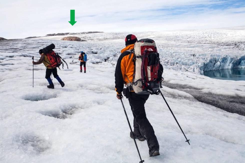 El glaciar Qaleraliq, en 2009.