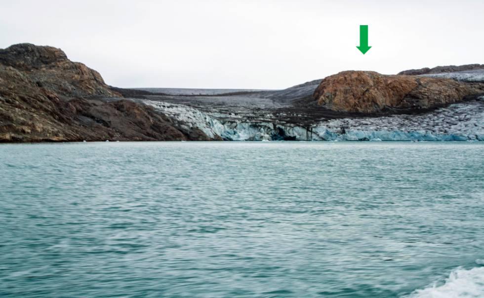 El glaciar Qaleraliq, en 2014.