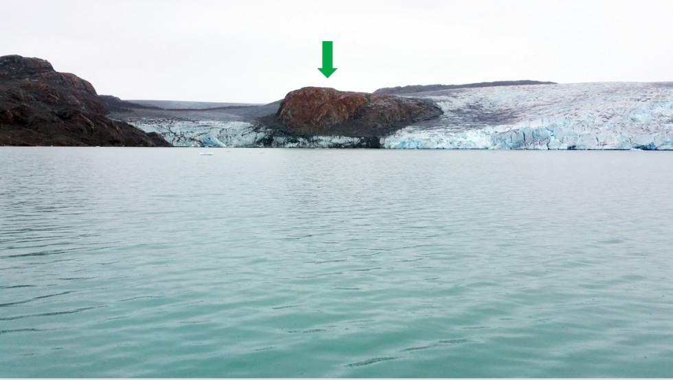 El glaciar Qaleraliq, en 2016.