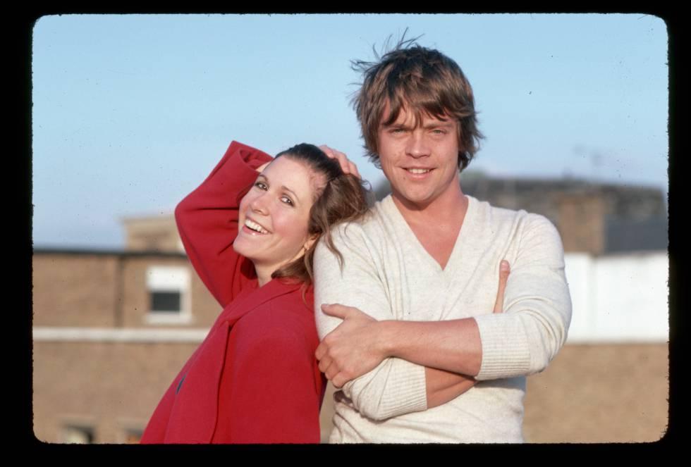 Mark Hamill y Carrie Fisher, o sea, la princesa Leia.