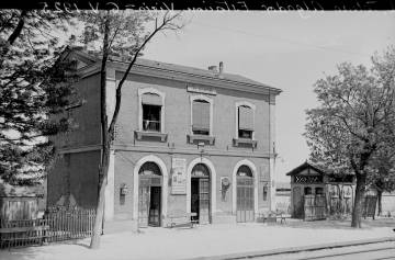 The original Algodor train station in 1925. The current one was built in 1929.
