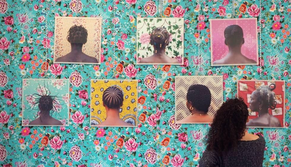 Exposición de la autora en Madrid.