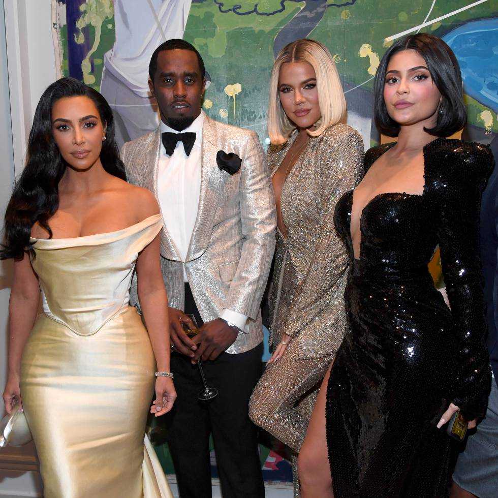 The rapper Diddy, Kim and Khloé Kardashian and Kylie Jenner, in their celebration of 50th birthday held in Los Angeles (USA), this weekend.