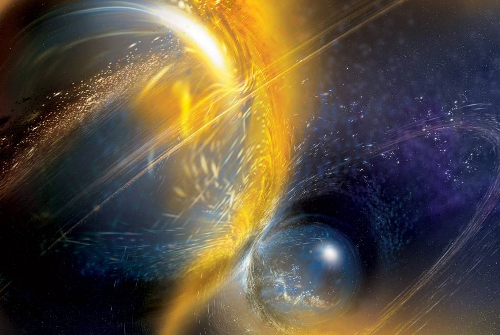 colision estelar universo