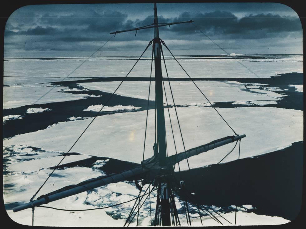 Panorama del mar de Weddell, en la Antártida,en una fotografíade fecha desconocida.