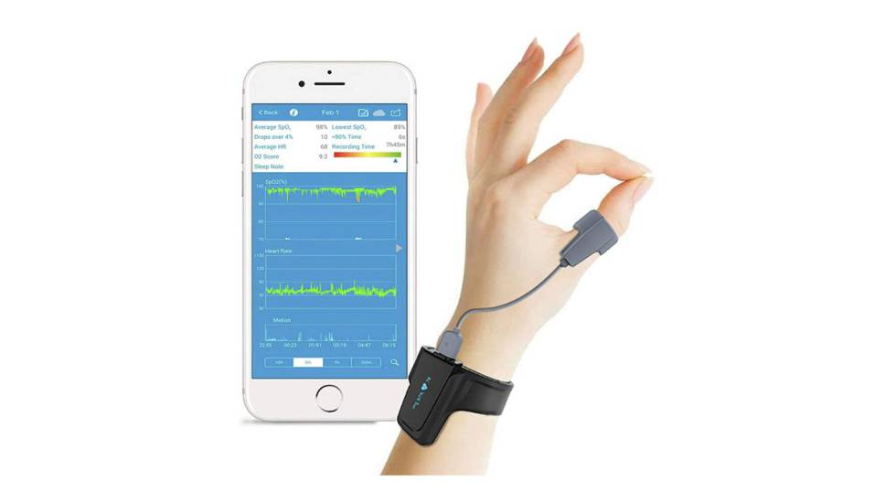 Monitor de oxígeno para dormir