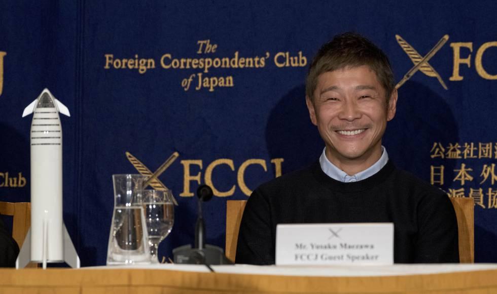 Yusaku Maezawa, en Tokio (Japón) en octubre de 2018.