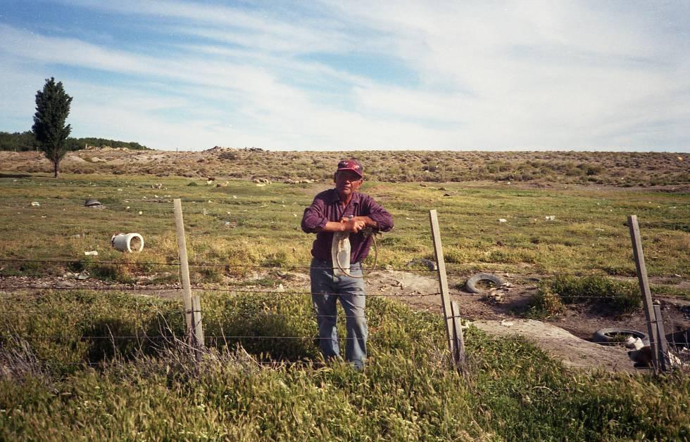 José Argentino, uno de lo ganaderos de la zona.