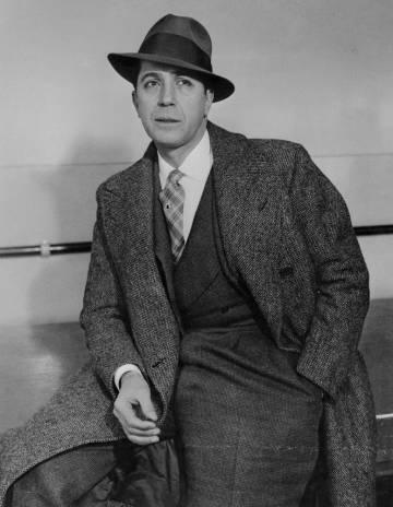 Retrato de Carlos Gardel, en 1935.