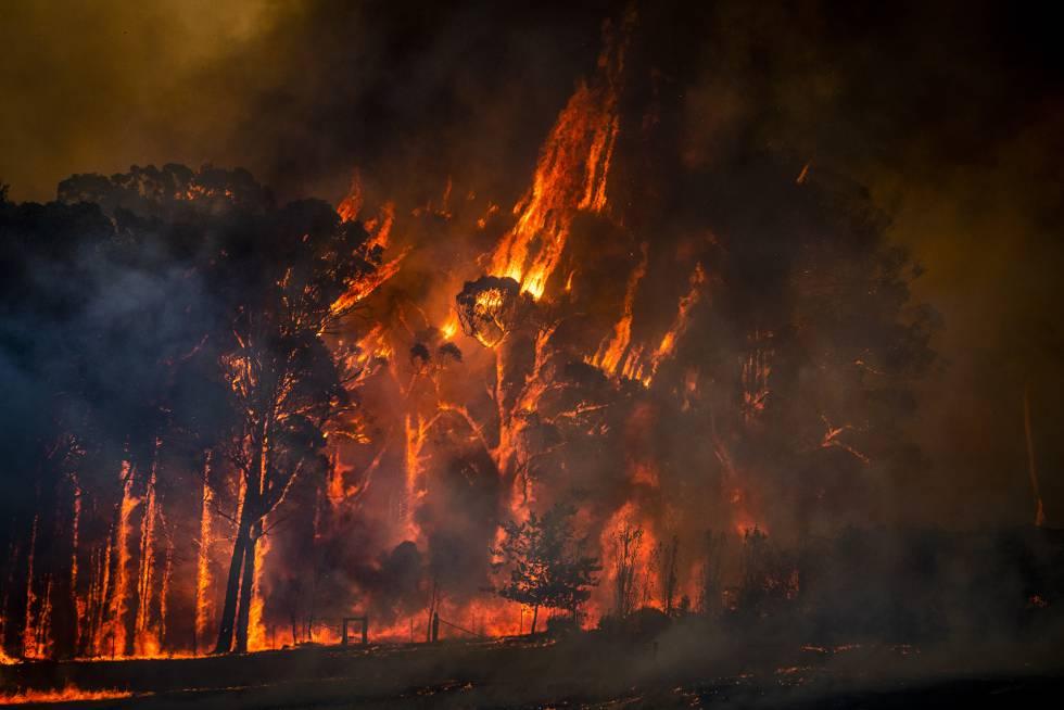 Fotos: Cielos teñidos de rojo, columnas ardientes y paisajes devastados. Retrato de Australia en llamas