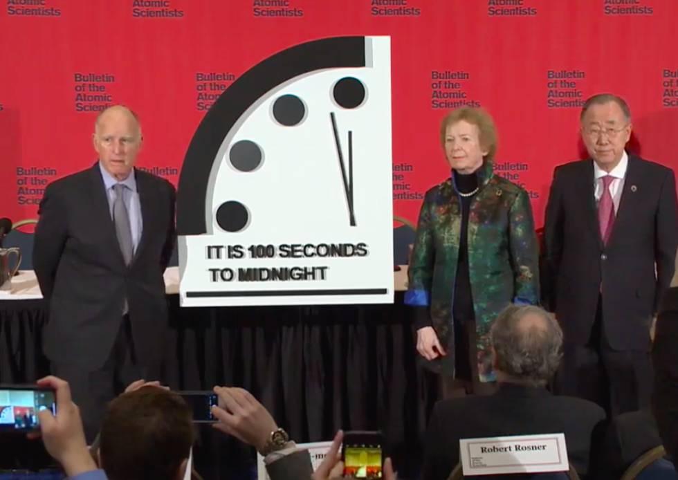 Momento en que se ha mostrado la posición del reloj.