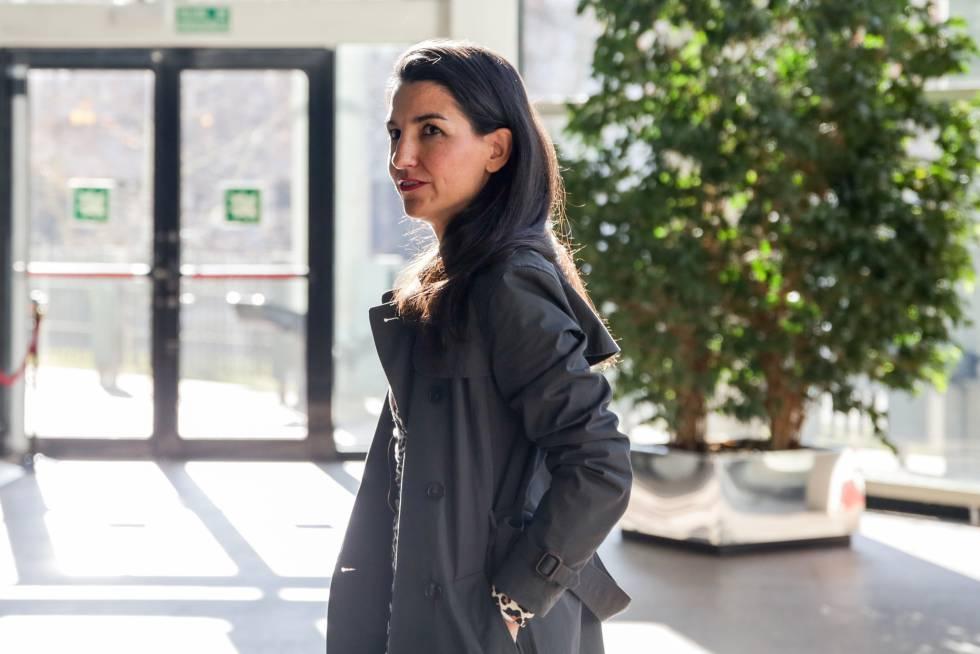 Rocío Monasterio, en la Asamblea de Madrid, el pasado 9 de enero.