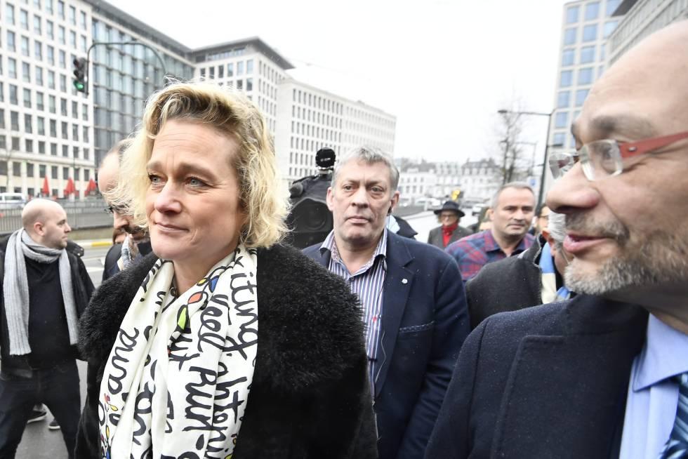 La hija ilegítima de Alberto de Bélgica, Delphine Boël, en Bruselas, en 2017.