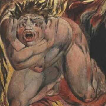 Ilustración de William Blake para El libro de Urizen.