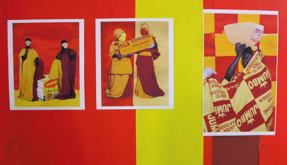 Obra de Adji Dieye en la Bienal de Bamako 2020.