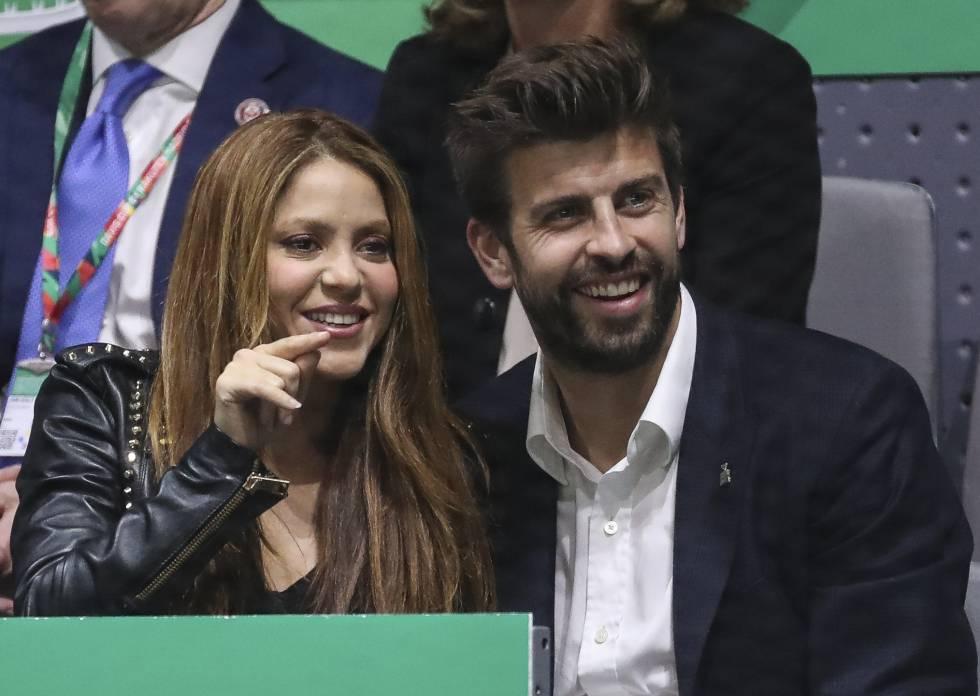 Shakira y Piqué, en el final de la Copa Davis, en Madrid, en noviembre.