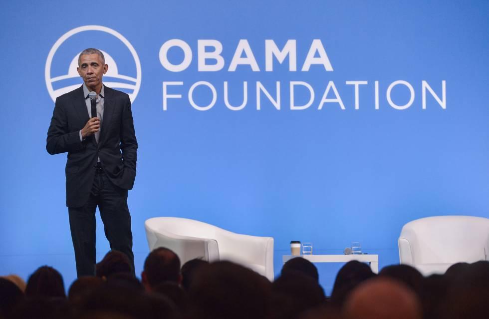Barack Obamaen un evento de su fundación en Kuala Lumpur el pasado 13 de diciembre centrado en la educación de las mujeres de la región.