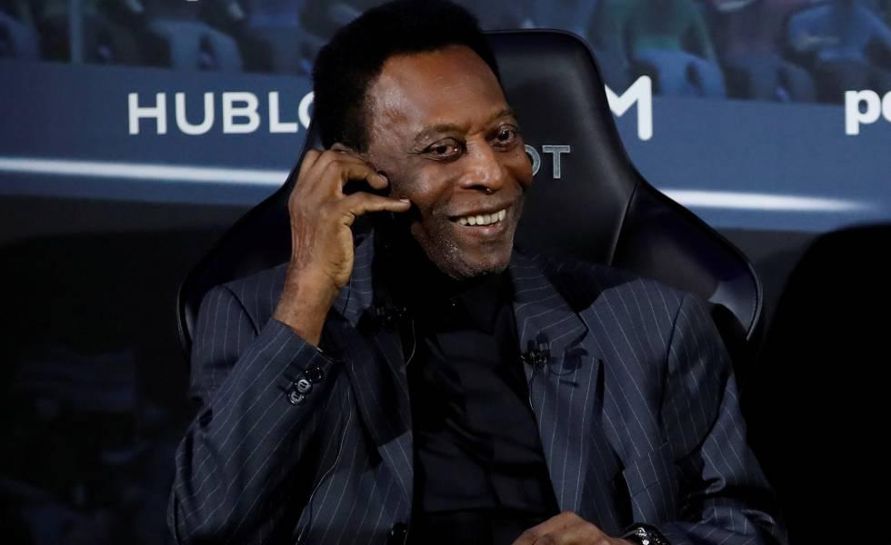 Pelé, en París, el pasado mes de abril.