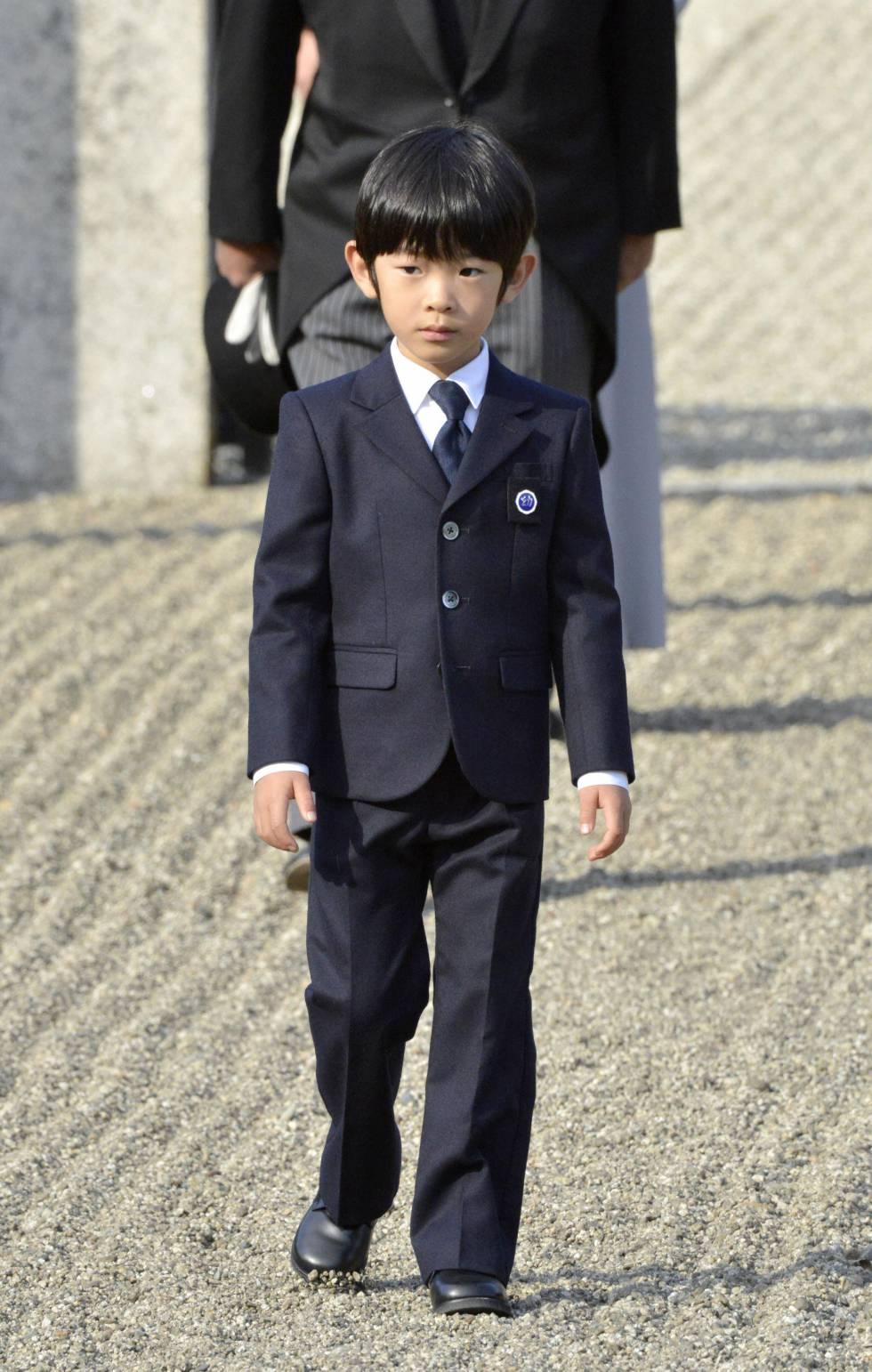 El príncipe Hisahito de Japón, en 2012.