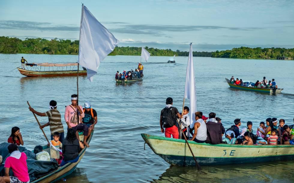 Santa Genoveva de Docordó, donde estuvieron residiendo durante todo el tiempo que la comunidad fue desplazada.