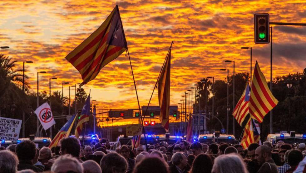 Manifestación independentista el pasado otoño en Barcelona.