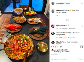 The picture of the paella Gigi Hadid. You can blame many things, but that does not seem healthy. In 20 minutes you are already to go for a run