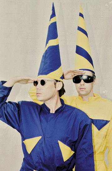 Pet Shop Boys, durante su gira de 1997.