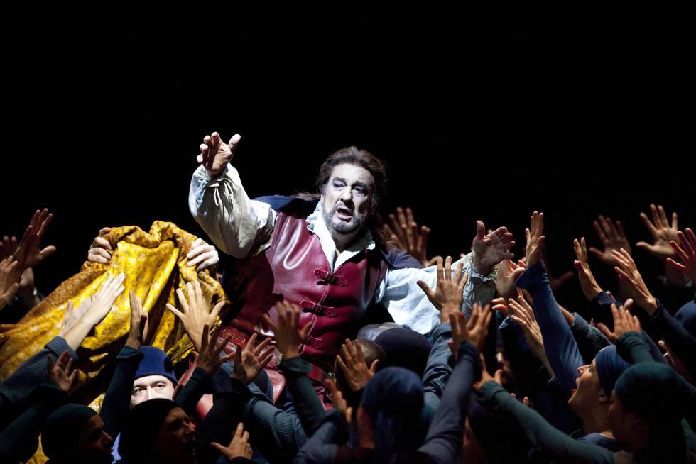 Plácido, como Otelo, en el Met.
