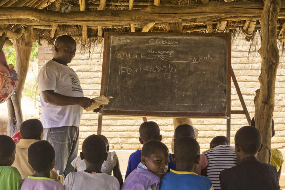 Escuela de primaria de Chipimbininga donde Catherine estudió hasta los nueve años.