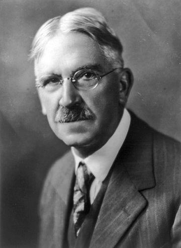 John Dewey, Imagen disponible en la División de Impresiones y Fotografías de la Biblioteca del Congreso de los Estados Unidos bajo el código digital cph.3a51565.