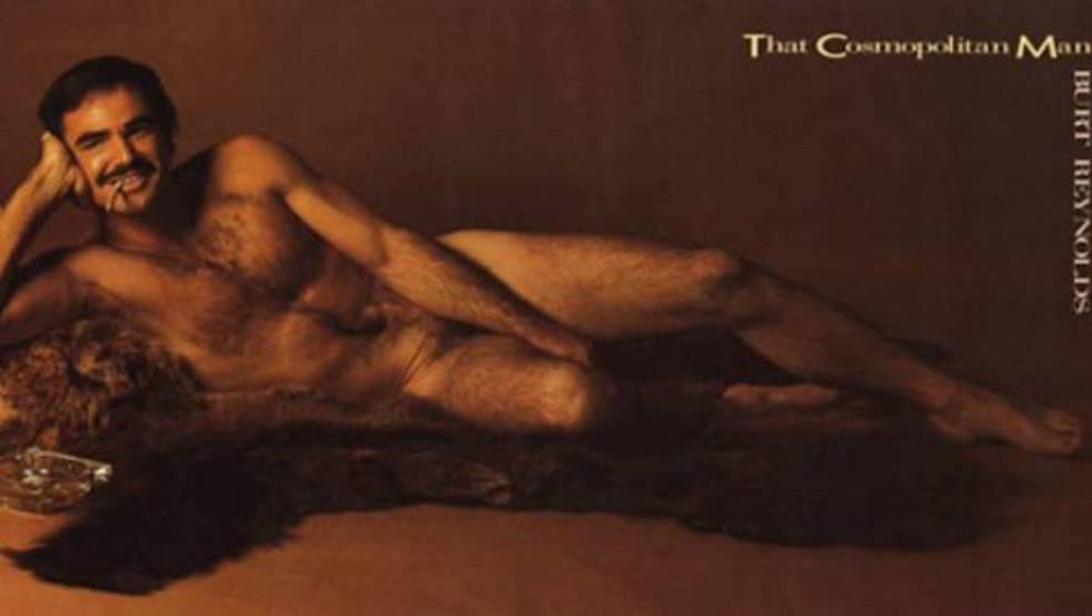 Burt Reynolds posó desnudo en 'Cosmopolitan' en 1972.