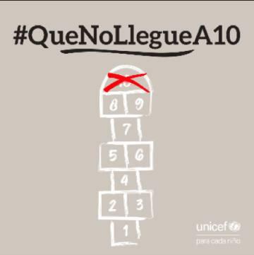 Imagen de la campaña de Unicef comité español.