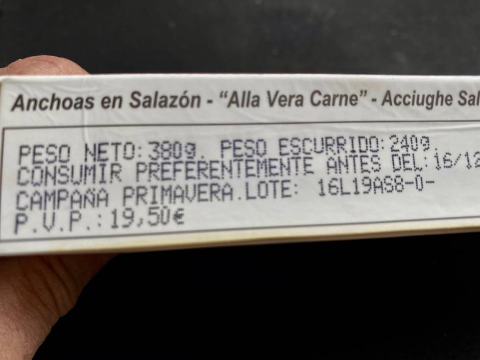 Envase de SanFilippo. J.C.CAPEL