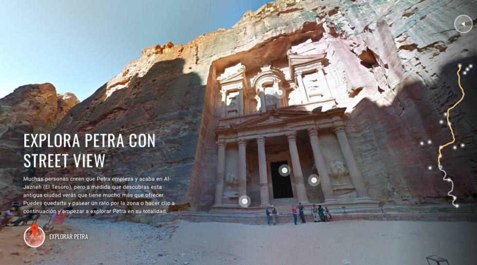 La iniciativa de Jordan Tourism Board y Google Maps: un recorrido vitual por Petra.