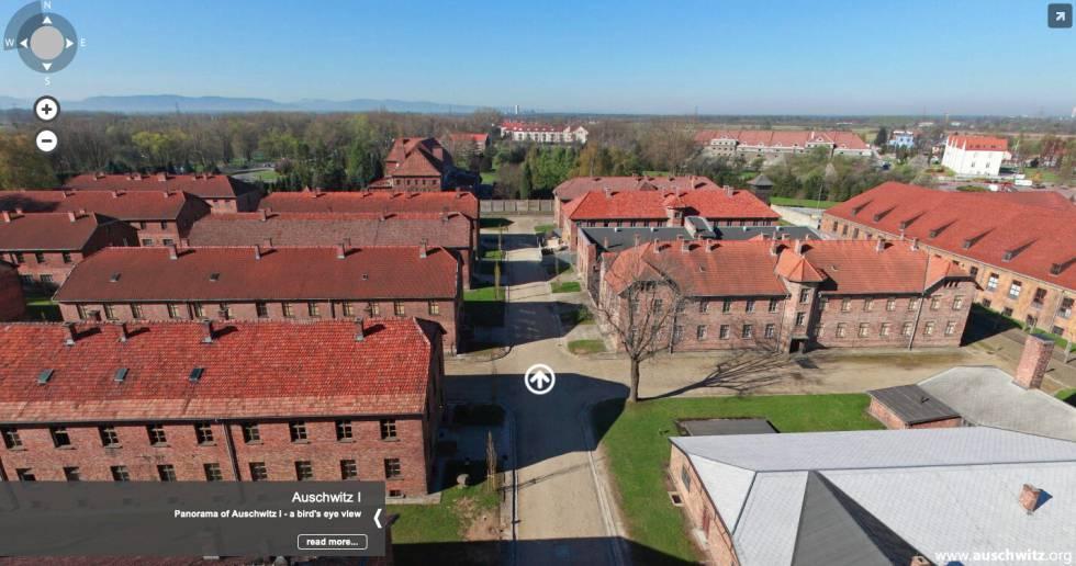 Vista aérea del campo de concentración nazi de Auschwitz.