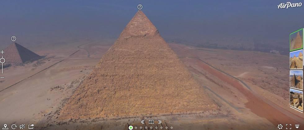 La monumentalidad egipcia en 360 grados.