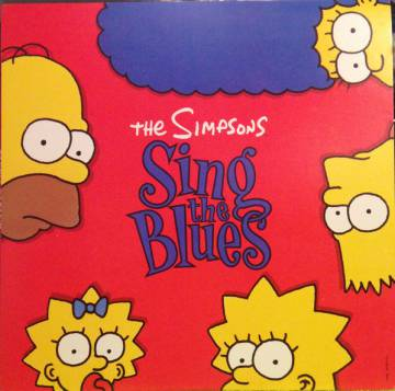 Portada del disco 'The Simpsons sing the blues', publicado en 1990.