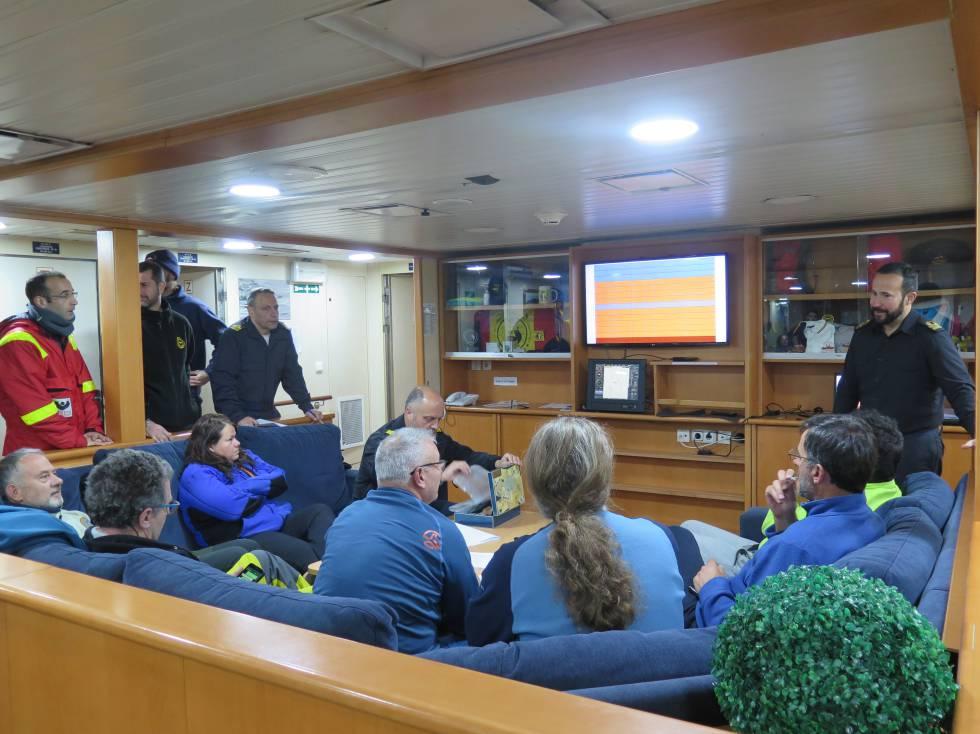 Sala de científicos del 'Hespérides', en la XXXIII Campaña Antártica.