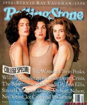 La portada de octubre de 1990 de 'Rolling Stone' conmemoró el estreno de la segunda temporada de 'Twin Peaks' reuniendo a Boyle con Sherilyn Fenn (Audrey) y Mädchen Amick (Shelly).