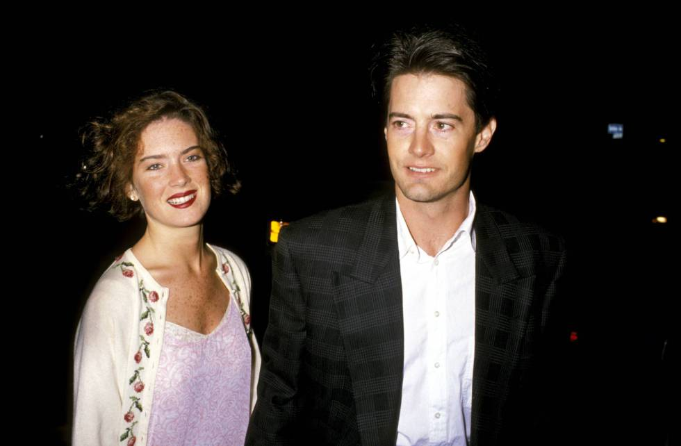 Lara Flynn Boyle y Kyle MacLachlan en 1989.