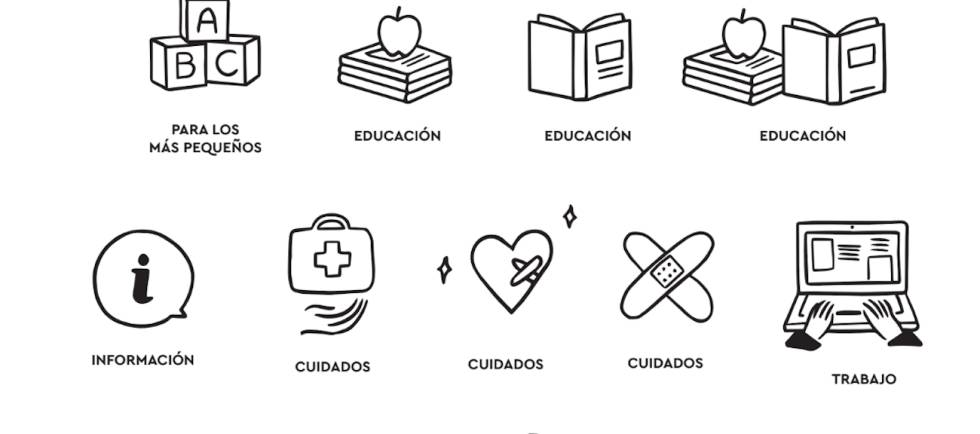 Ilustraciones de la iniciativa Frena la curva.