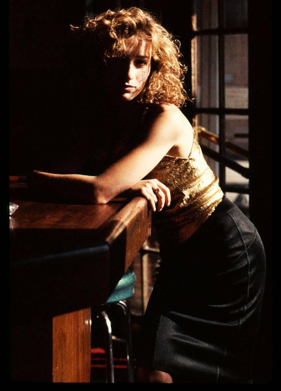 Retrato promocional de Jennifer Grey tomado en Nueva York en 1987.