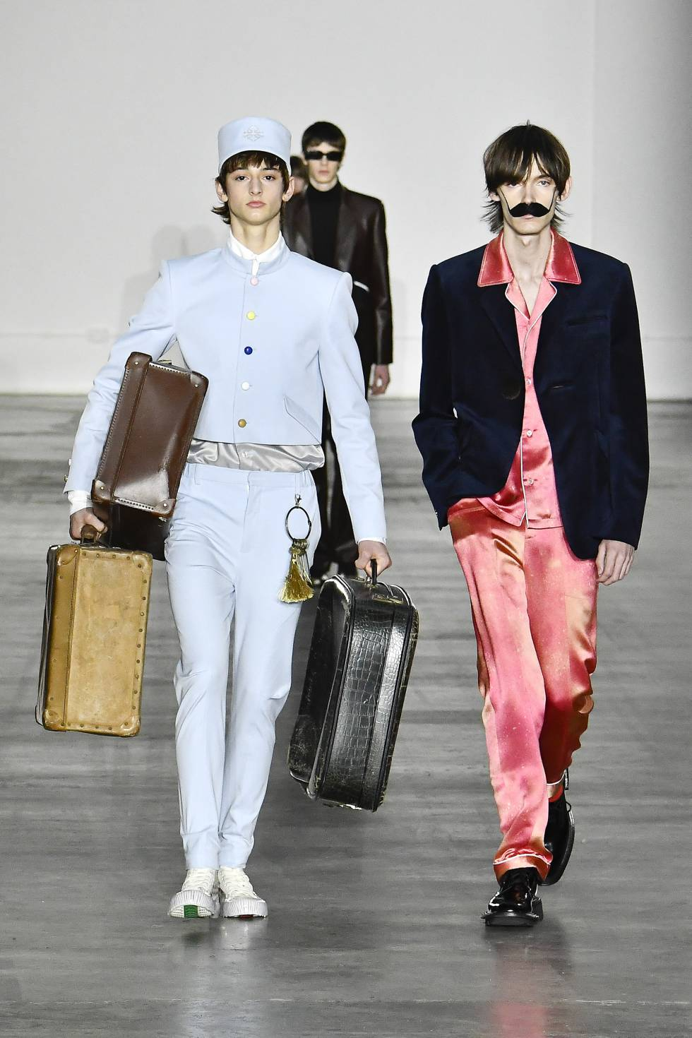 Desfile de la firma 8ON8 este pasado enero en la semana de la moda masculina de Londres.