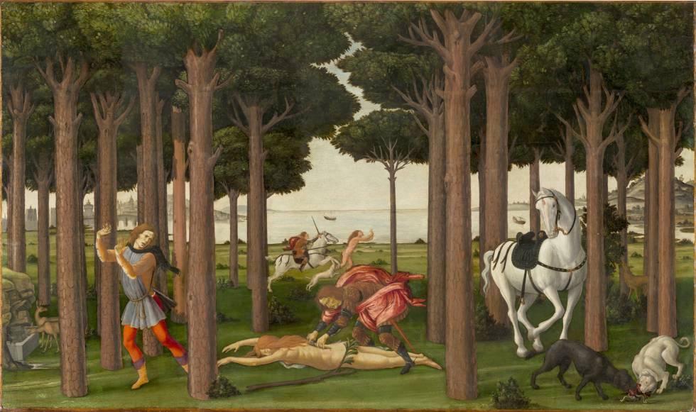 'Escenas de la historia de Nastagio degli Onesti', de Sandro Botticelli.